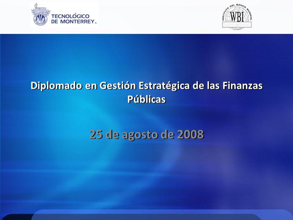 Diplomado en Gestión Estratégica de las Finanzas Públicas