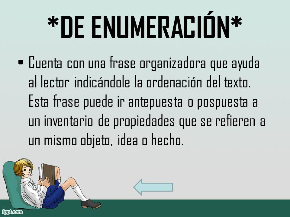 *DE ENUMERACIÓN*