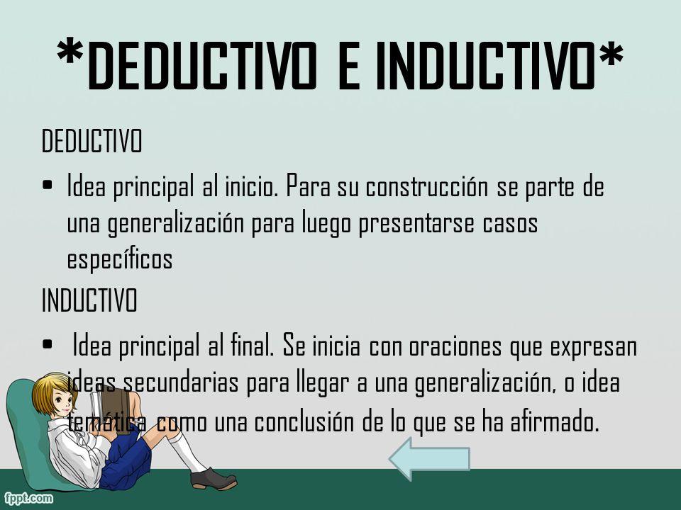 *DEDUCTIVO E INDUCTIVO*