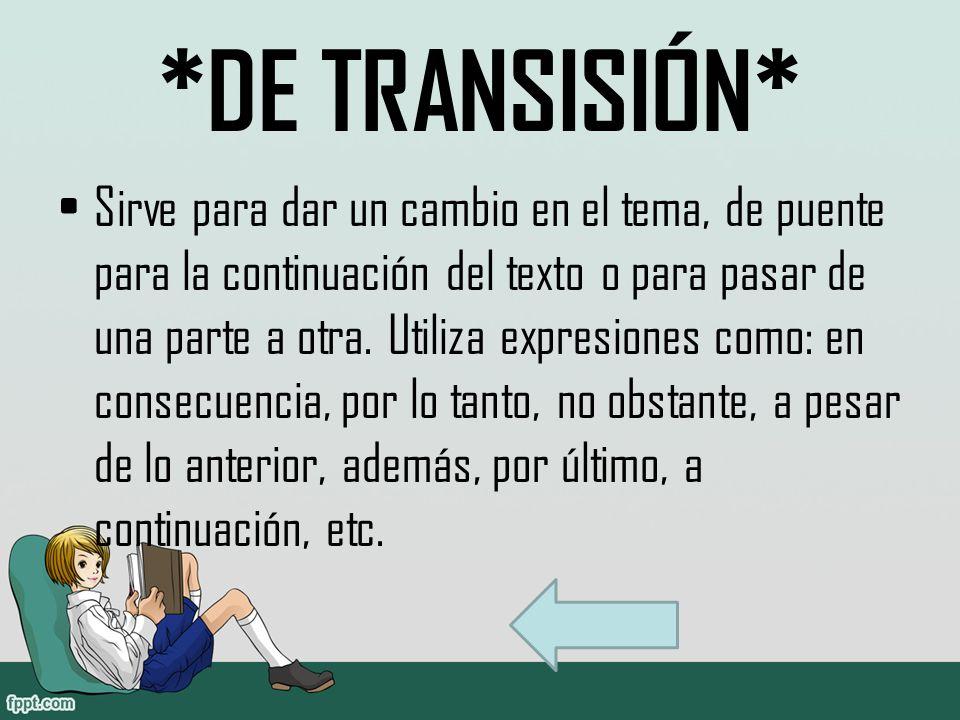 *DE TRANSISIÓN*