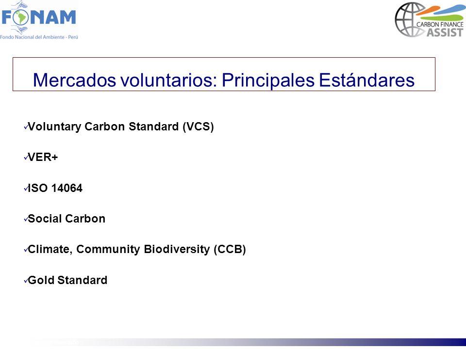 Mercados voluntarios: Principales Estándares
