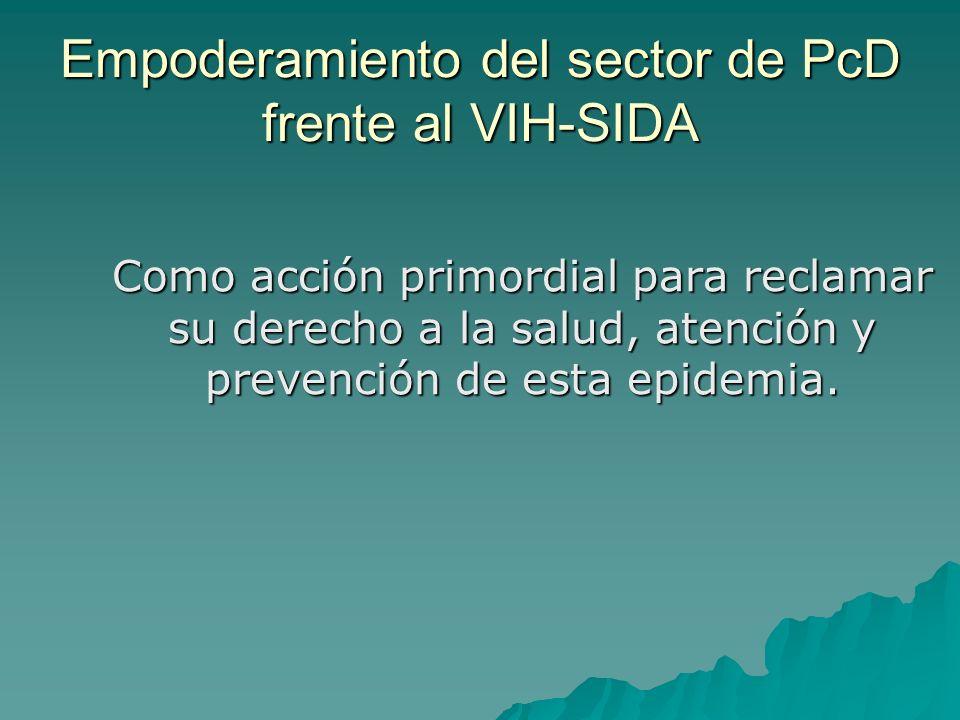 Empoderamiento del sector de PcD frente al VIH-SIDA