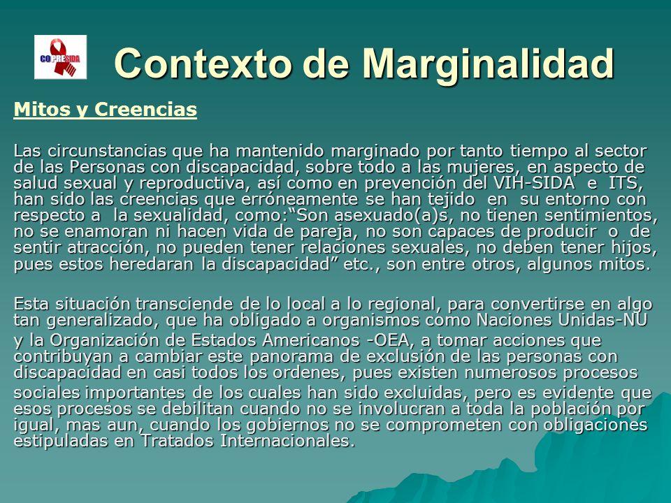 Contexto de Marginalidad