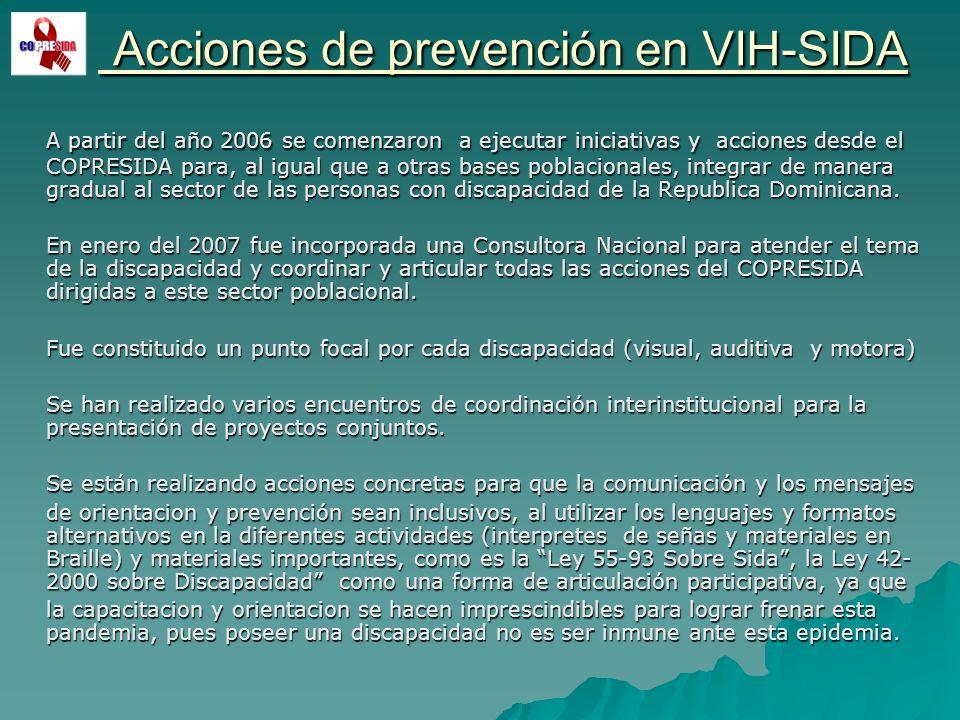 Acciones de prevención en VIH-SIDA