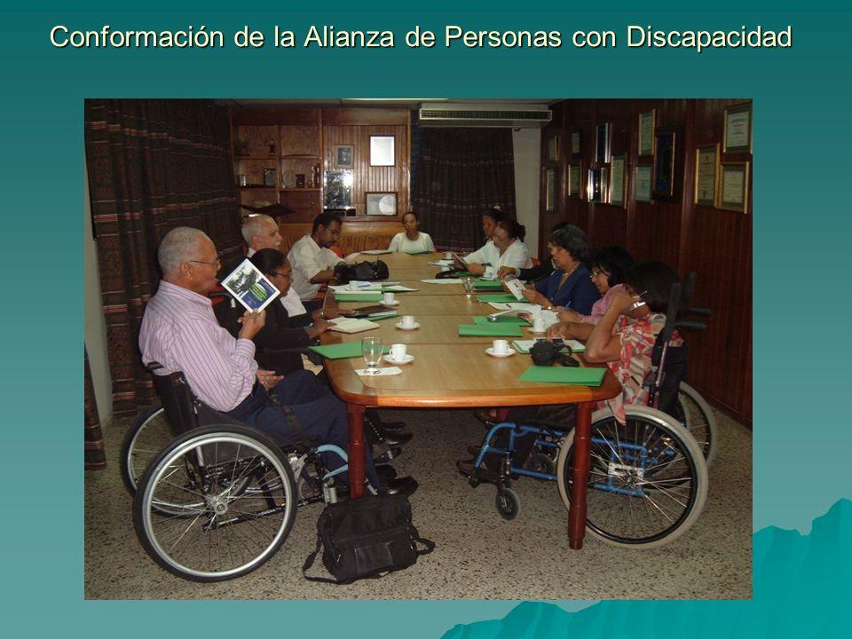 Conformación de la Alianza de Personas con Discapacidad