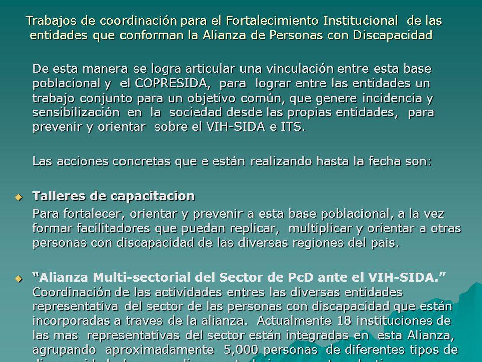 Trabajos de coordinación para el Fortalecimiento Institucional de las