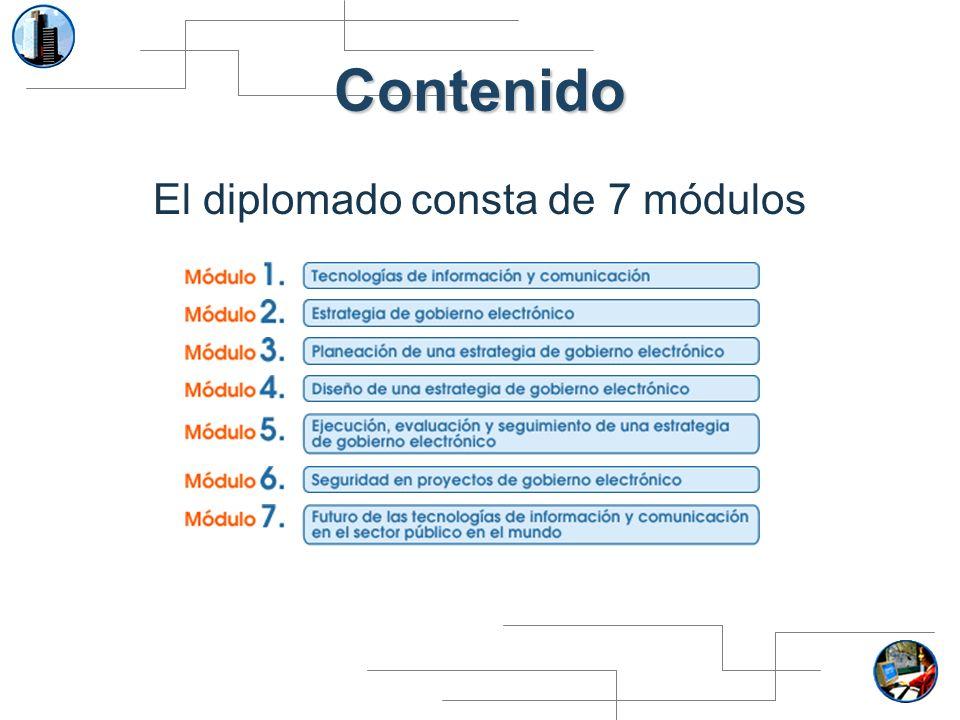 El diplomado consta de 7 módulos