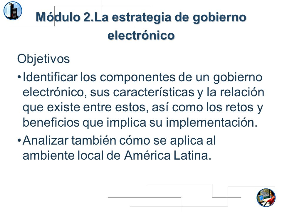 Módulo 2.La estrategia de gobierno electrónico