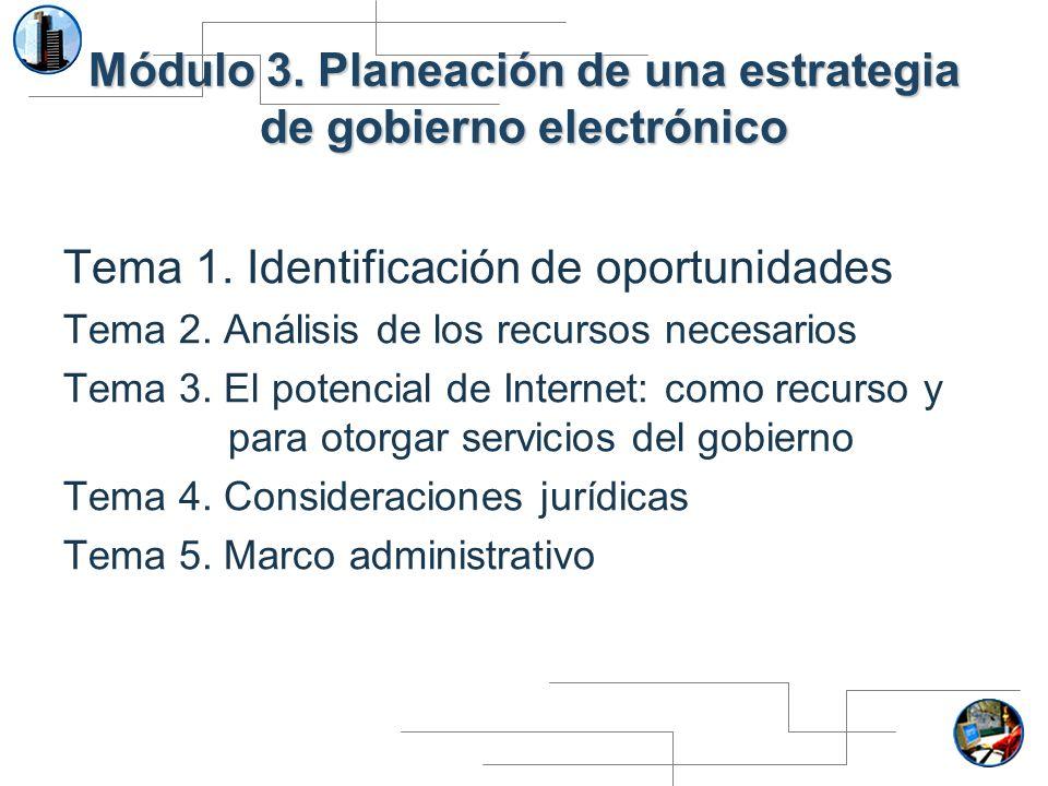 Módulo 3. Planeación de una estrategia de gobierno electrónico