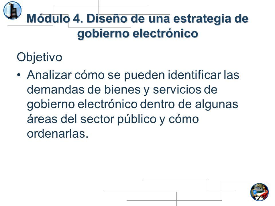 Módulo 4. Diseño de una estrategia de gobierno electrónico
