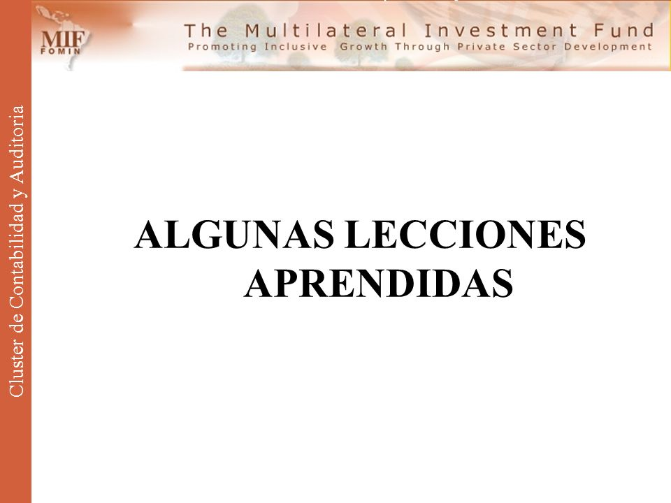 ALGUNAS LECCIONES APRENDIDAS