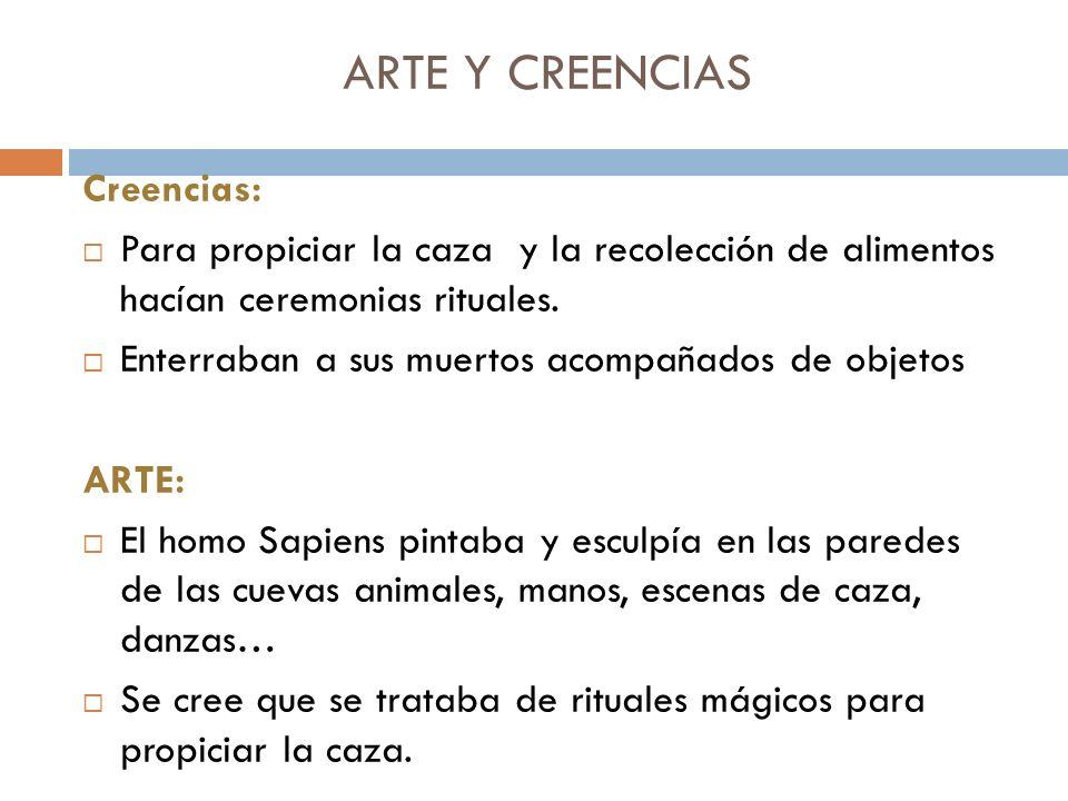 ARTE Y CREENCIAS Creencias: