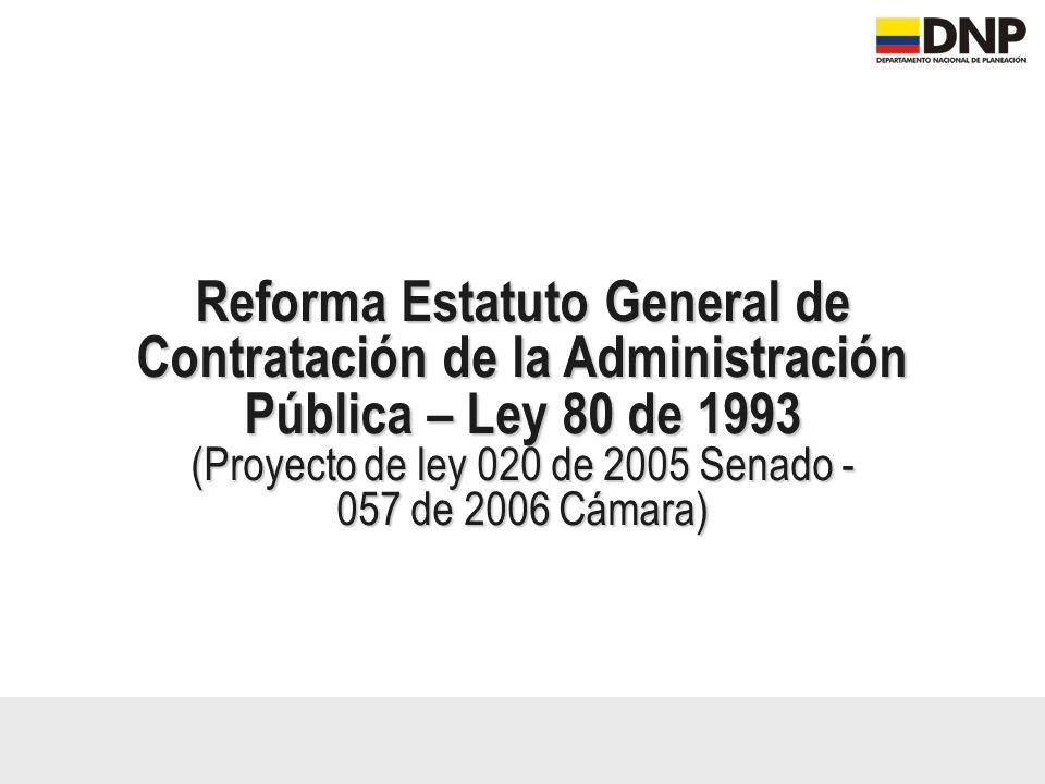(Proyecto de ley 020 de 2005 Senado -
