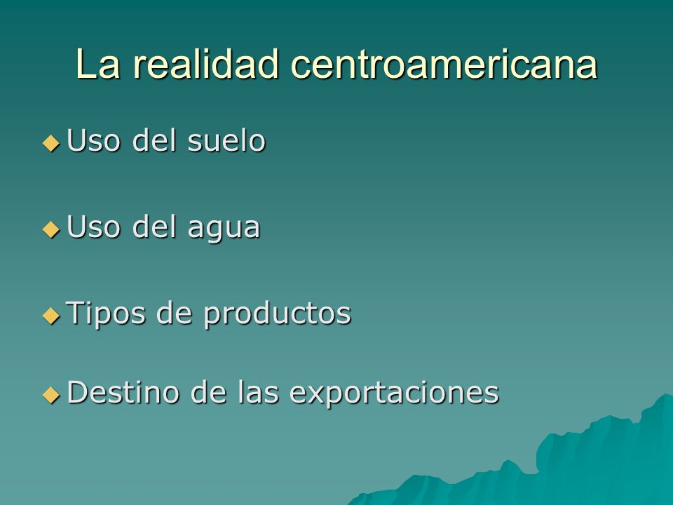 La realidad centroamericana