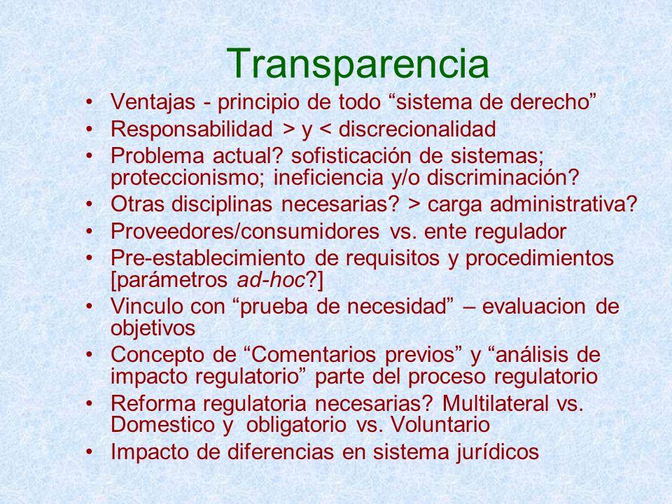 Transparencia Ventajas - principio de todo sistema de derecho
