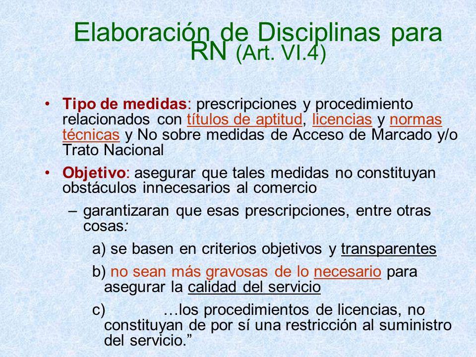 Elaboración de Disciplinas para RN (Art. VI.4)