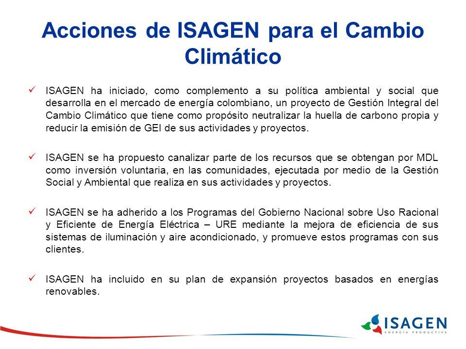 Acciones de ISAGEN para el Cambio Climático