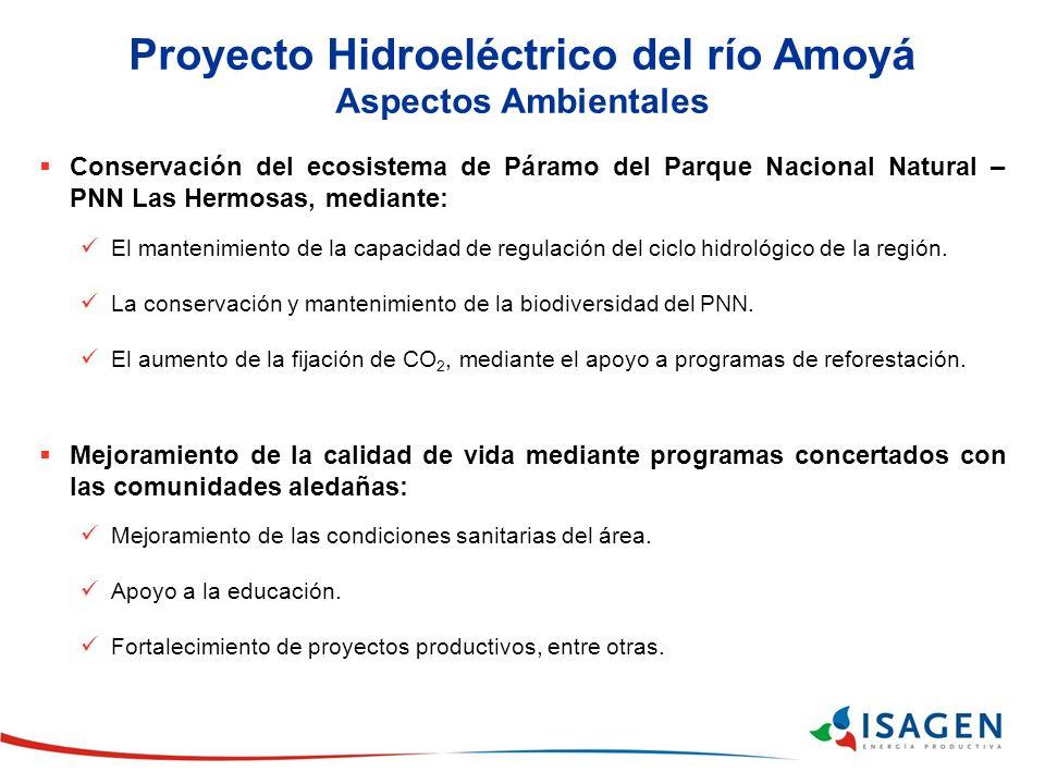 Proyecto Hidroeléctrico del río Amoyá Aspectos Ambientales