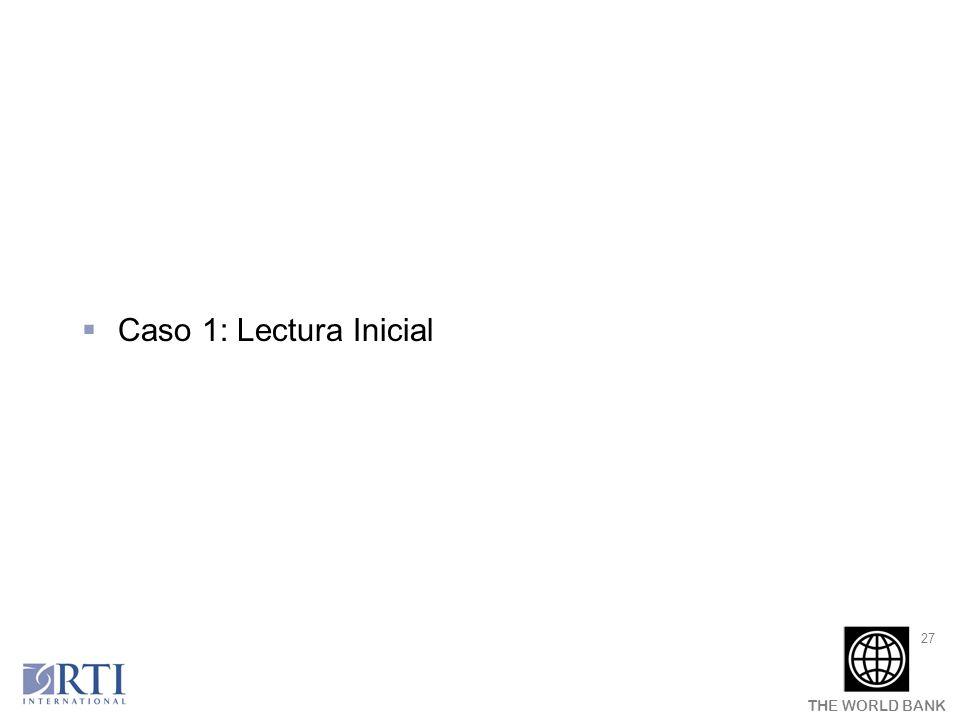Caso 1: Lectura Inicial