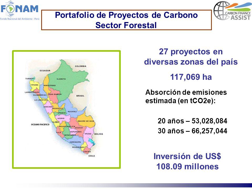 Portafolio de Proyectos de Carbono Sector Forestal