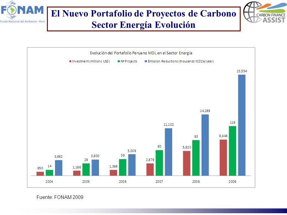 El Nuevo Portafolio de Proyectos de Carbono Sector Energía Evolución