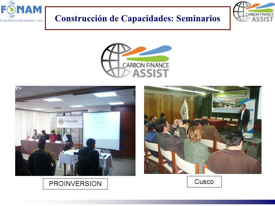 Construcción de Capacidades: Seminarios