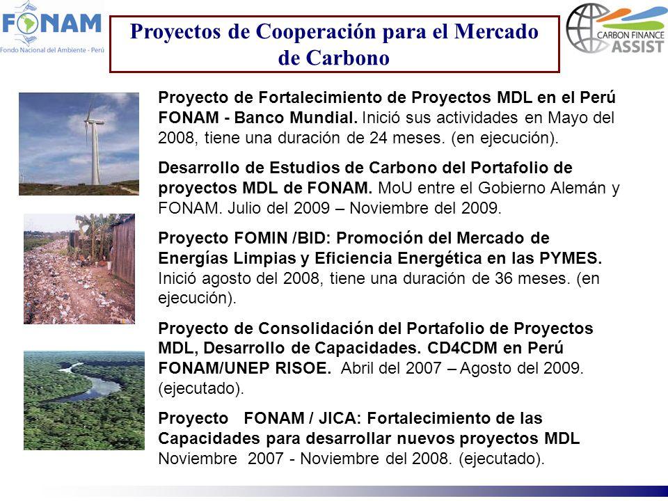 Proyectos de Cooperación para el Mercado de Carbono