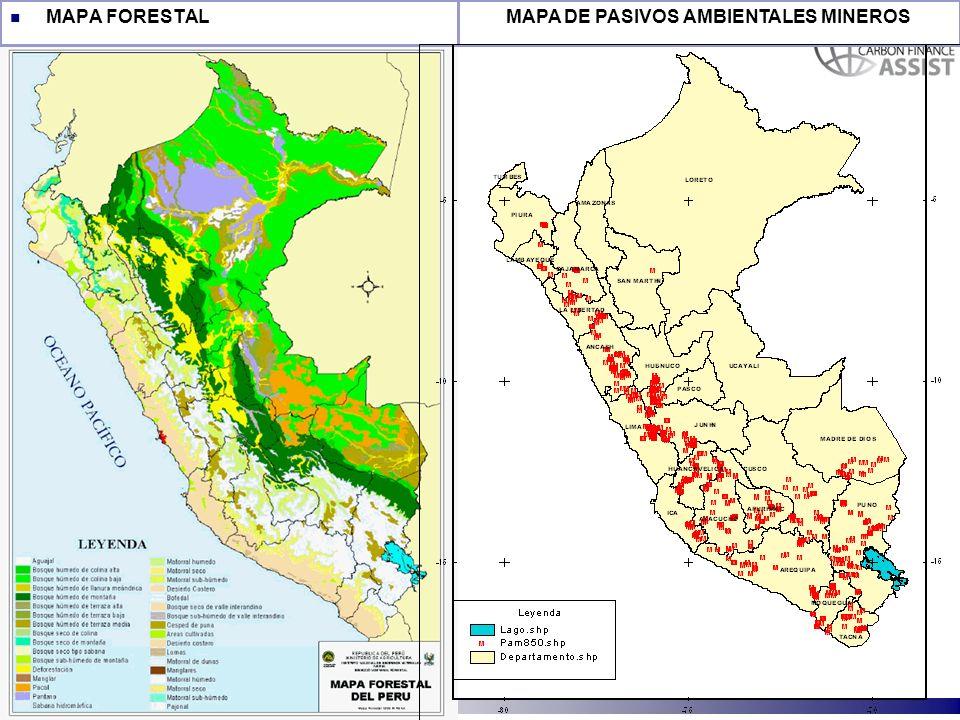 MAPA DE PASIVOS AMBIENTALES MINEROS