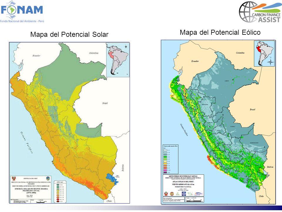 Mapa del Potencial Eólico Mapa del Potencial Solar