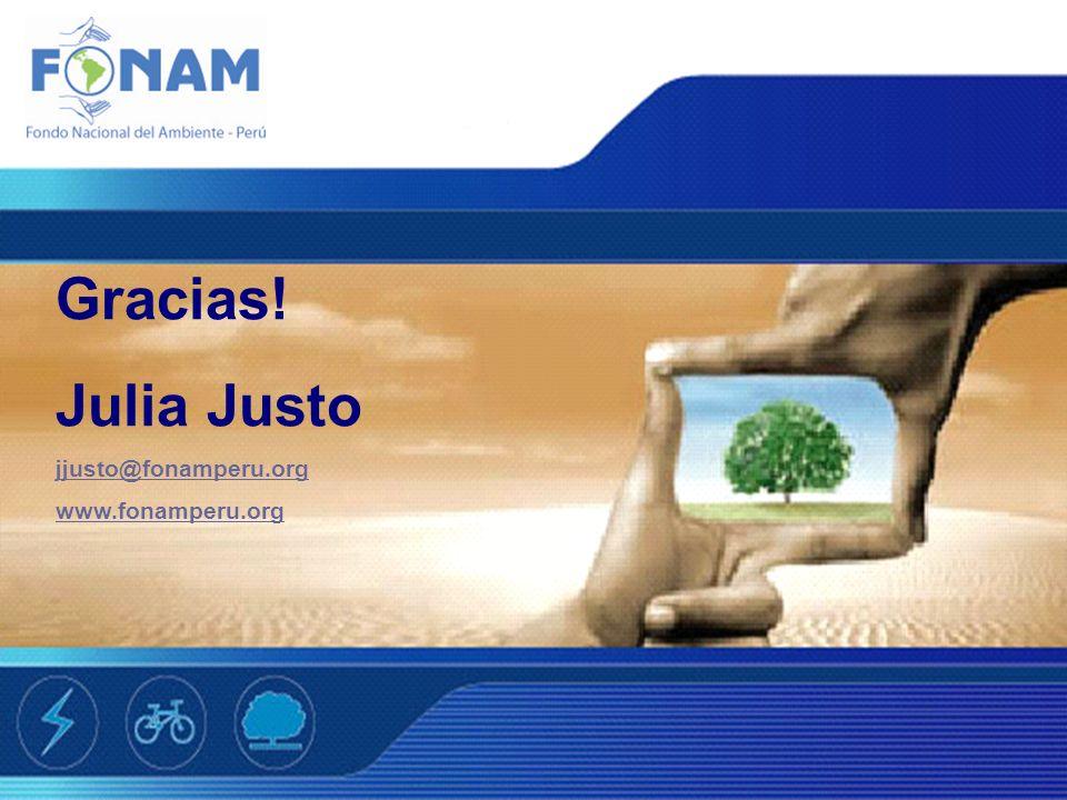 Gracias! Julia Justo jjusto@fonamperu.org www.fonamperu.org