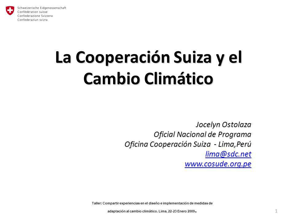 La cooperaci n suiza y el cambio clim tico ppt descargar - Oficina espanola de cambio climatico ...
