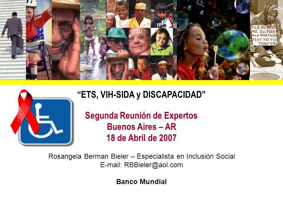 ETS, VIH-SIDA y DISCAPACIDAD Segunda Reunión de Expertos