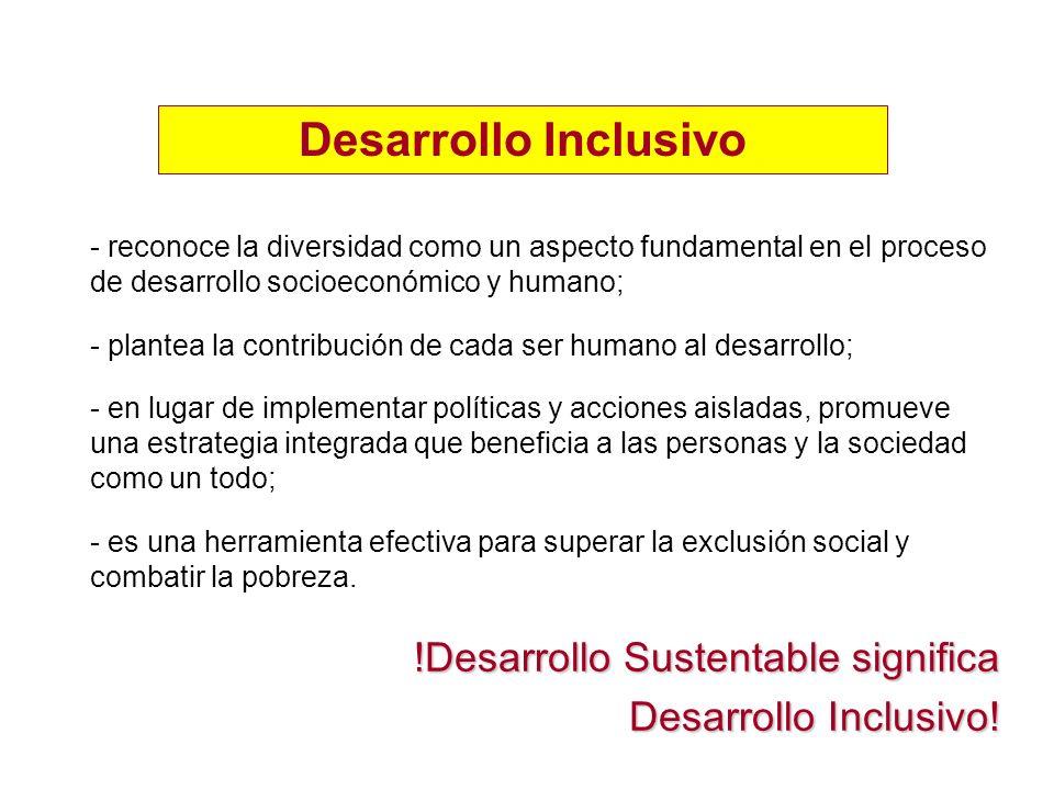 Desarrollo Inclusivo !Desarrollo Sustentable significa