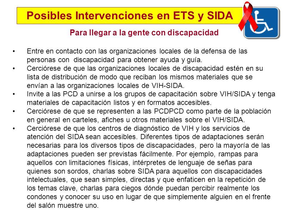 Posibles Intervenciones en ETS y SIDA