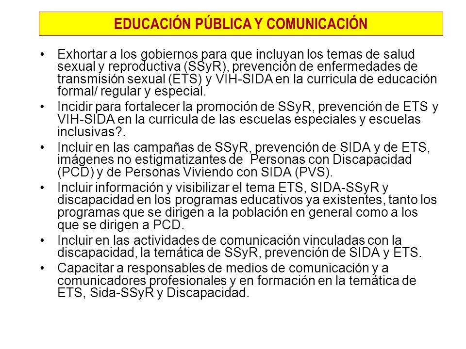 EDUCACIÓN PÚBLICA Y COMUNICACIÓN
