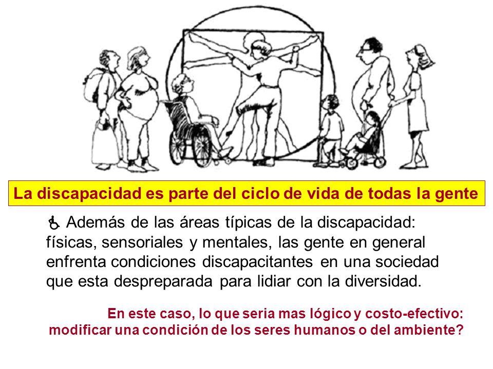 La discapacidad es parte del ciclo de vida de todas la gente