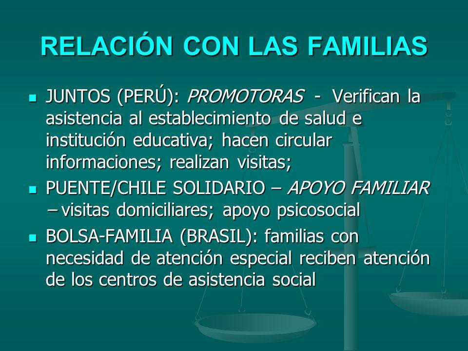 RELACIÓN CON LAS FAMILIAS