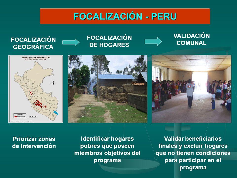 FOCALIZACIÓN - PERU VALIDACIÓN COMUNAL FOCALIZACIÓN DE HOGARES