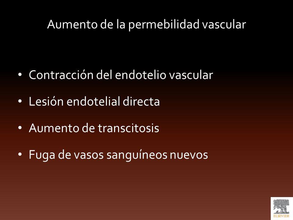 Aumento de la permebilidad vascular