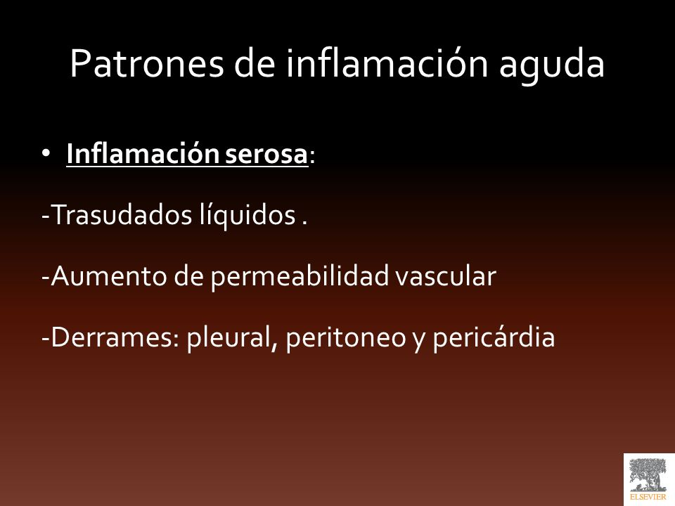 Patrones de inflamación aguda