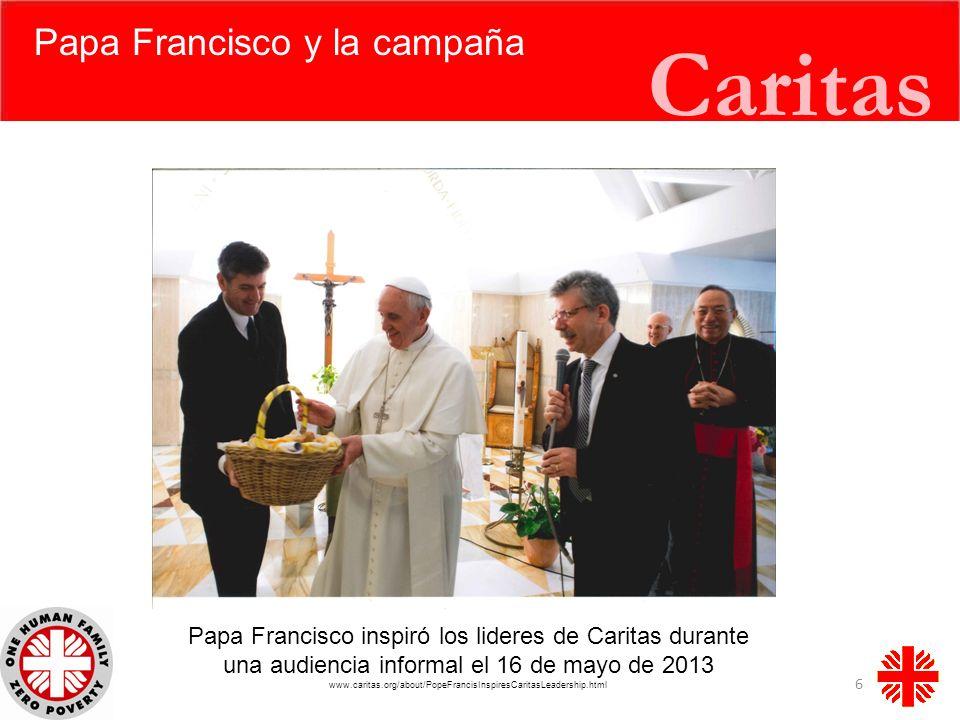 Caritas Papa Francisco y la campaña