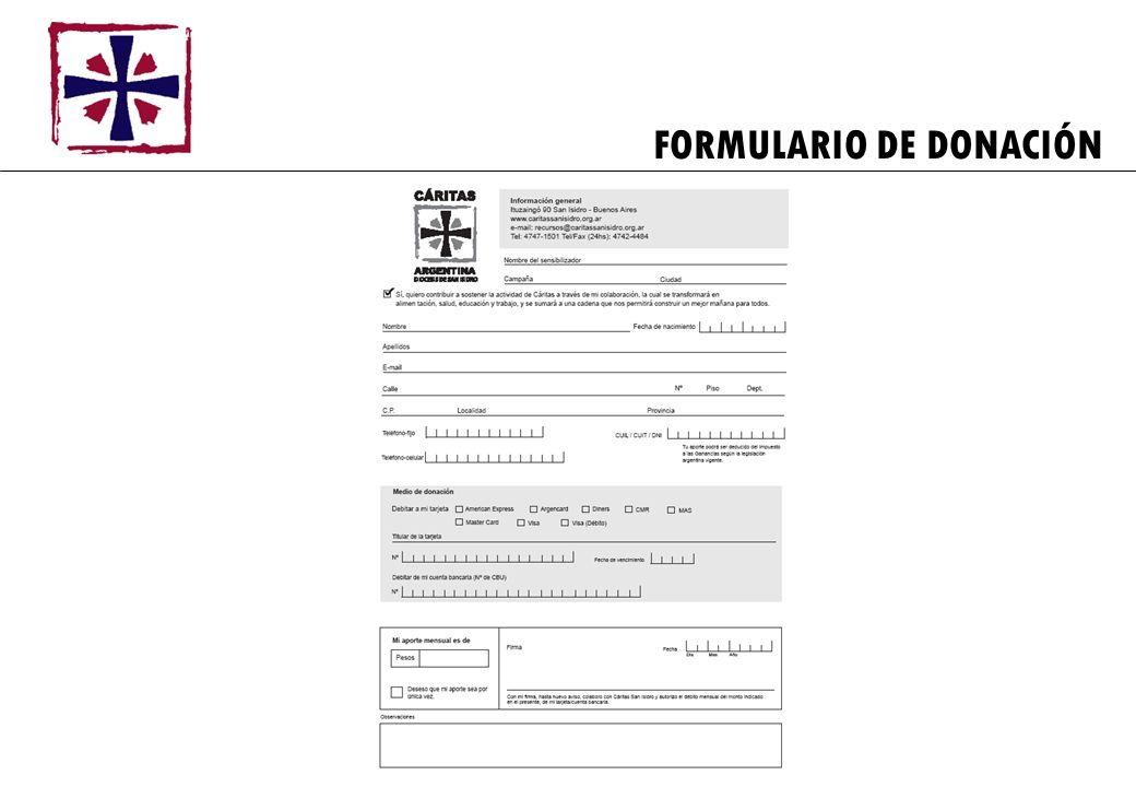 FORMULARIO DE DONACIÓN