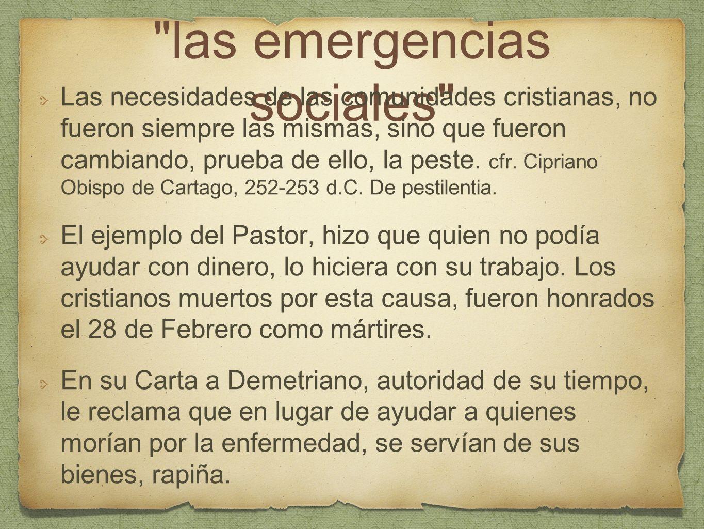 las emergencias sociales