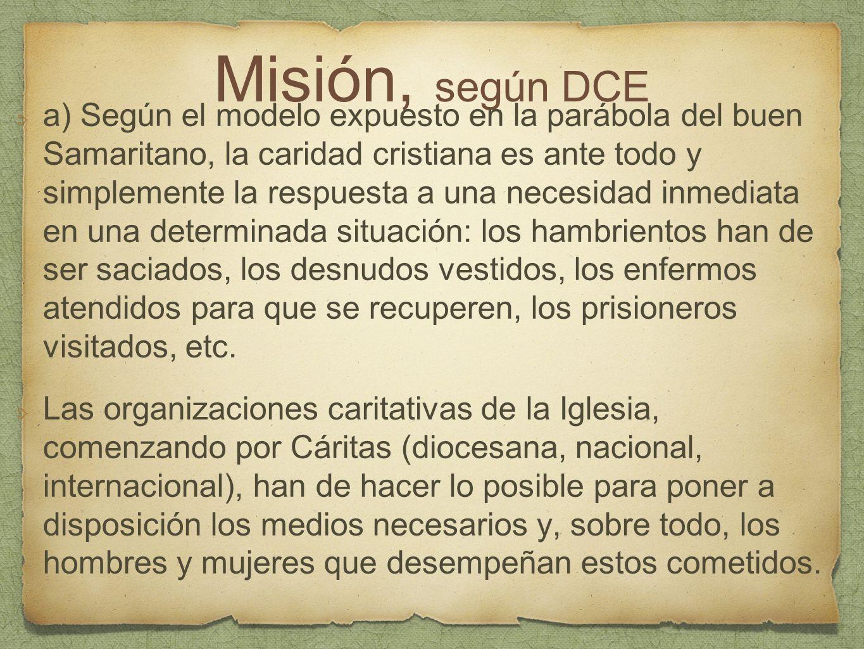 Misión, según DCE