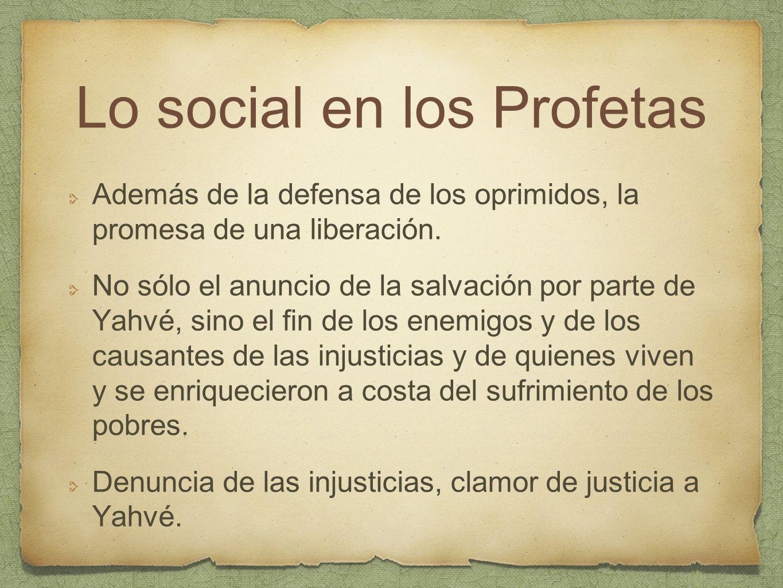 Lo social en los Profetas