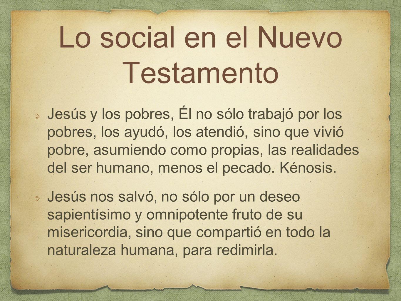 Lo social en el Nuevo Testamento