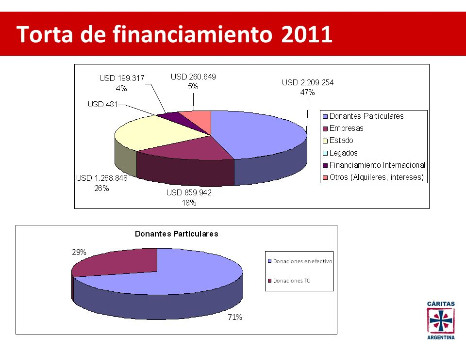 Torta de financiamiento 2011