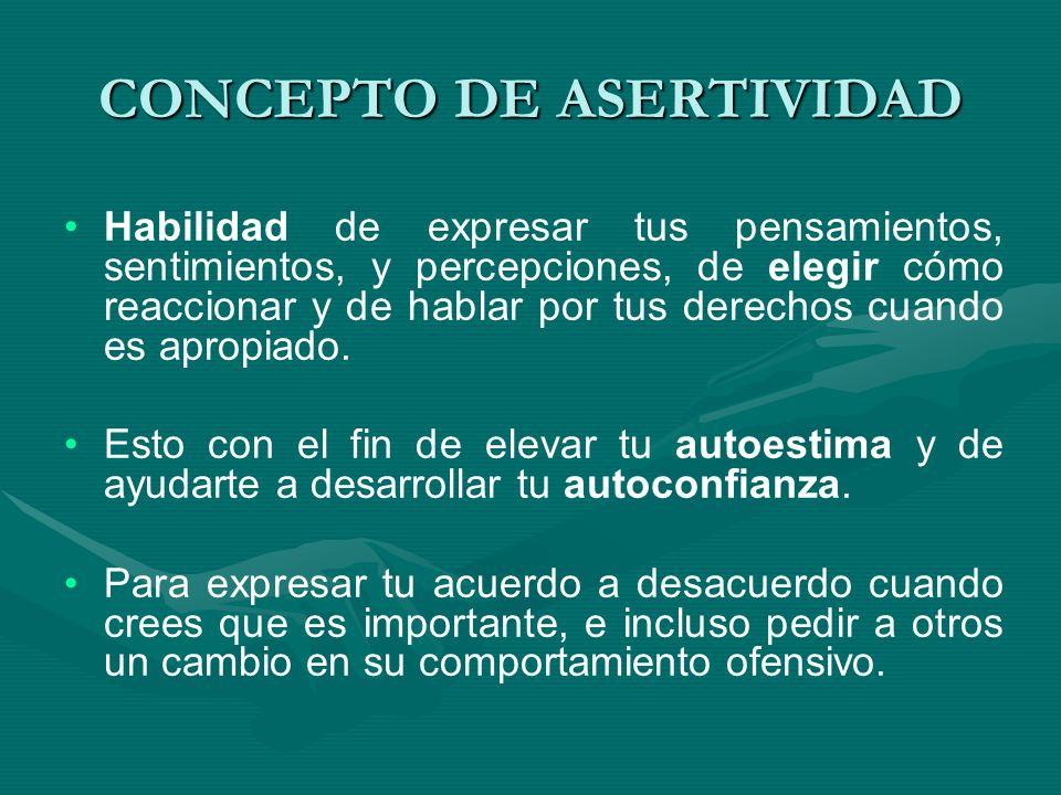 CONCEPTO DE ASERTIVIDAD