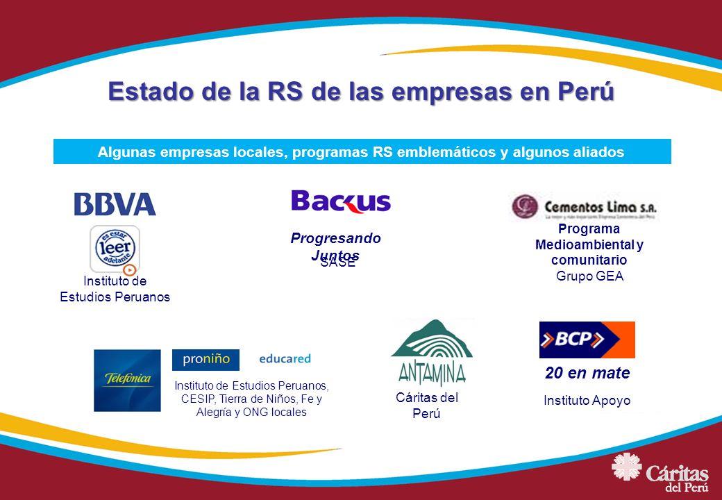 Estado de la RS de las empresas en Perú