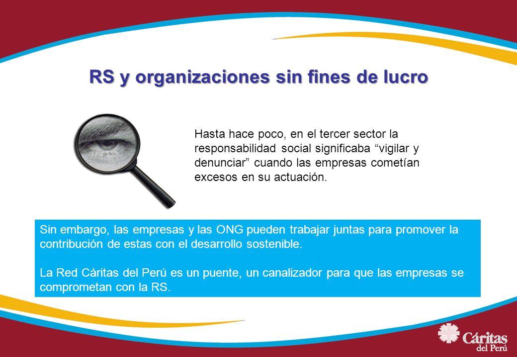 RS y organizaciones sin fines de lucro